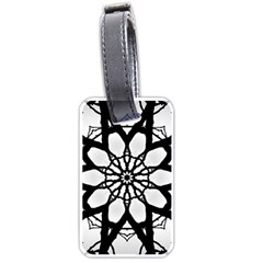Pattern Abstract Fractal Luggage Tags (one Side)