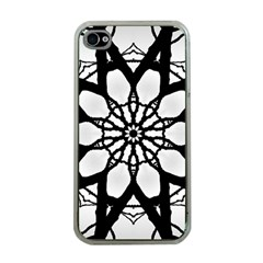Pattern Abstract Fractal Apple Iphone 4 Case (clear)