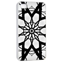 Pattern Abstract Fractal Apple Iphone 4/4s Seamless Case (white)
