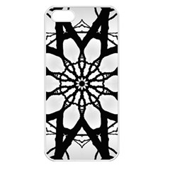 Pattern Abstract Fractal Apple Iphone 5 Seamless Case (white)