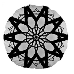 Pattern Abstract Fractal Large 18  Premium Round Cushions