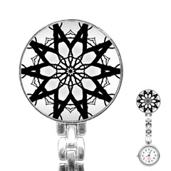 Pattern Abstract Fractal Stainless Steel Nurses Watch