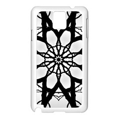 Pattern Abstract Fractal Samsung Galaxy Note 3 N9005 Case (white)