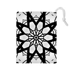 Pattern Abstract Fractal Drawstring Pouches (large)