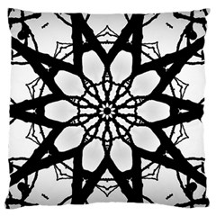 Pattern Abstract Fractal Large Flano Cushion Case (one Side)