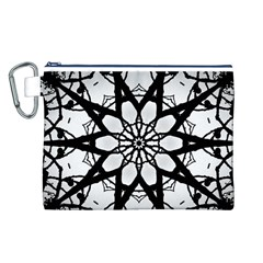 Pattern Abstract Fractal Canvas Cosmetic Bag (l)