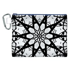 Pattern Abstract Fractal Canvas Cosmetic Bag (xxl)