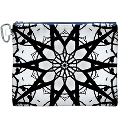 Pattern Abstract Fractal Canvas Cosmetic Bag (xxxl)
