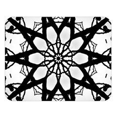 Pattern Abstract Fractal Double Sided Flano Blanket (large)