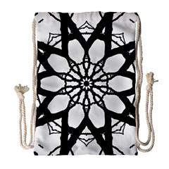 Pattern Abstract Fractal Drawstring Bag (large)