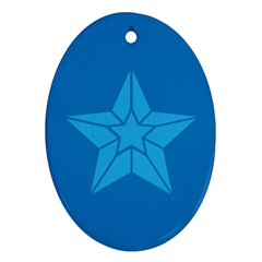 Star Design Pattern Texture Sign Ornament (oval)