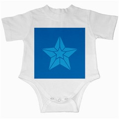 Star Design Pattern Texture Sign Infant Creepers