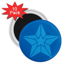 Star Design Pattern Texture Sign 2 25  Magnets (10 Pack)