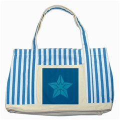 Star Design Pattern Texture Sign Striped Blue Tote Bag