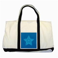 Star Design Pattern Texture Sign Two Tone Tote Bag