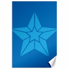 Star Design Pattern Texture Sign Canvas 24  X 36