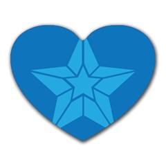 Star Design Pattern Texture Sign Heart Mousepads