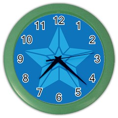Star Design Pattern Texture Sign Color Wall Clocks