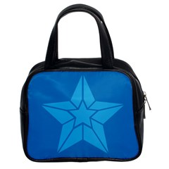 Star Design Pattern Texture Sign Classic Handbags (2 Sides)