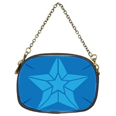 Star Design Pattern Texture Sign Chain Purses (two Sides)