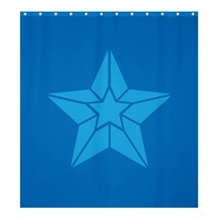 Star Design Pattern Texture Sign Shower Curtain 66  X 72  (large)