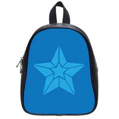 Star Design Pattern Texture Sign School Bags (small)