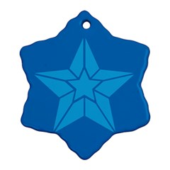 Star Design Pattern Texture Sign Snowflake Ornament (two Sides)