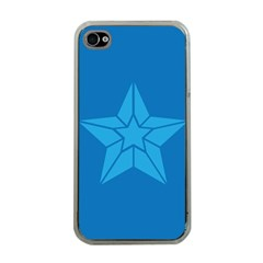 Star Design Pattern Texture Sign Apple Iphone 4 Case (clear)