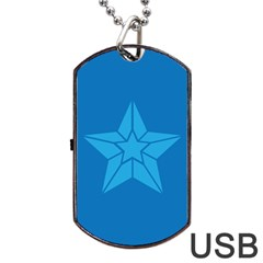 Star Design Pattern Texture Sign Dog Tag Usb Flash (one Side)