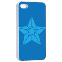 Star Design Pattern Texture Sign Apple Iphone 4/4s Seamless Case (white)