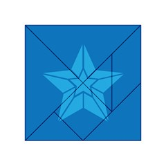 Star Design Pattern Texture Sign Acrylic Tangram Puzzle (4  X 4 )