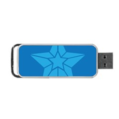 Star Design Pattern Texture Sign Portable Usb Flash (one Side)