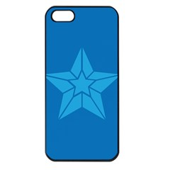 Star Design Pattern Texture Sign Apple Iphone 5 Seamless Case (black)