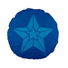Star Design Pattern Texture Sign Standard 15  Premium Round Cushions
