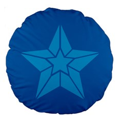 Star Design Pattern Texture Sign Large 18  Premium Round Cushions