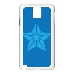 Star Design Pattern Texture Sign Samsung Galaxy Note 3 N9005 Case (white)