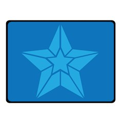 Star Design Pattern Texture Sign Double Sided Fleece Blanket (small)