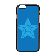 Star Design Pattern Texture Sign Apple Iphone 6/6s Black Enamel Case