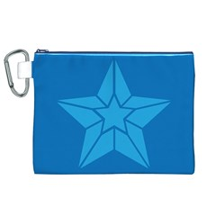 Star Design Pattern Texture Sign Canvas Cosmetic Bag (xl)