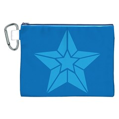 Star Design Pattern Texture Sign Canvas Cosmetic Bag (xxl)