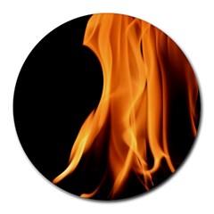 Fire Flame Pillar Of Fire Heat Round Mousepads