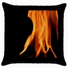 Fire Flame Pillar Of Fire Heat Throw Pillow Case (black)