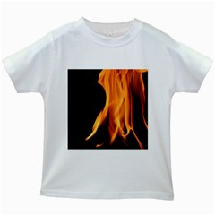 Fire Flame Pillar Of Fire Heat Kids White T Shirts