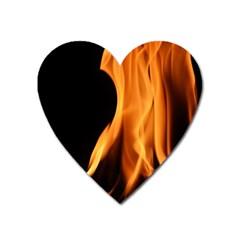 Fire Flame Pillar Of Fire Heat Heart Magnet