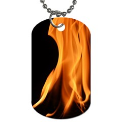 Fire Flame Pillar Of Fire Heat Dog Tag (two Sides)