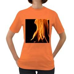 Fire Flame Pillar Of Fire Heat Women s Dark T Shirt