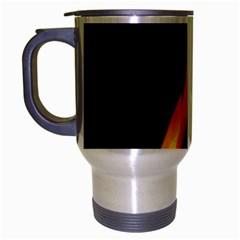 Fire Flame Pillar Of Fire Heat Travel Mug (silver Gray)