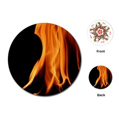 Fire Flame Pillar Of Fire Heat Playing Cards (round)