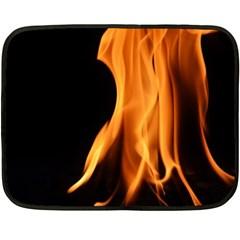 Fire Flame Pillar Of Fire Heat Fleece Blanket (mini)