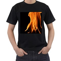 Fire Flame Pillar Of Fire Heat Men s T Shirt (black)